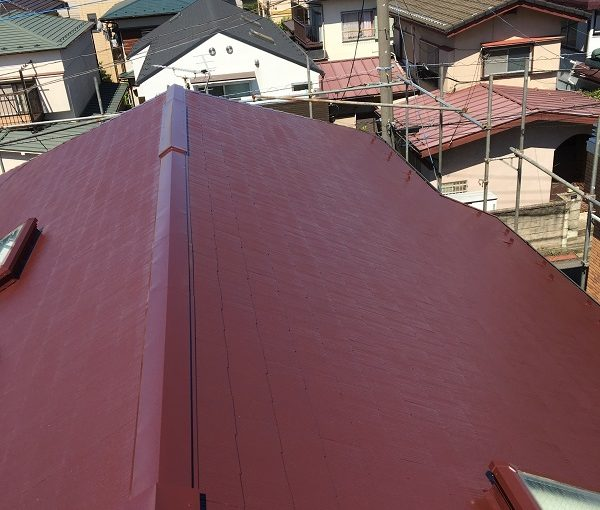 静岡県富士宮市 屋根塗装 雨樋補修 セミフロンルーフⅡ 雨樋部分補修