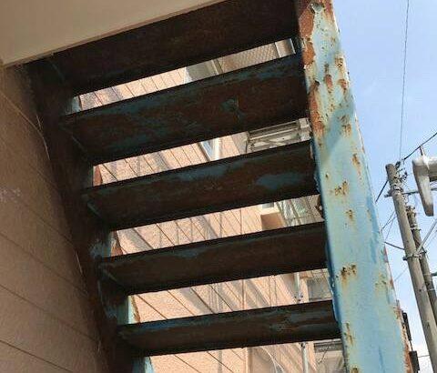 静岡県裾野市 外壁塗装 付帯部塗装 鉄骨階段 事前調査