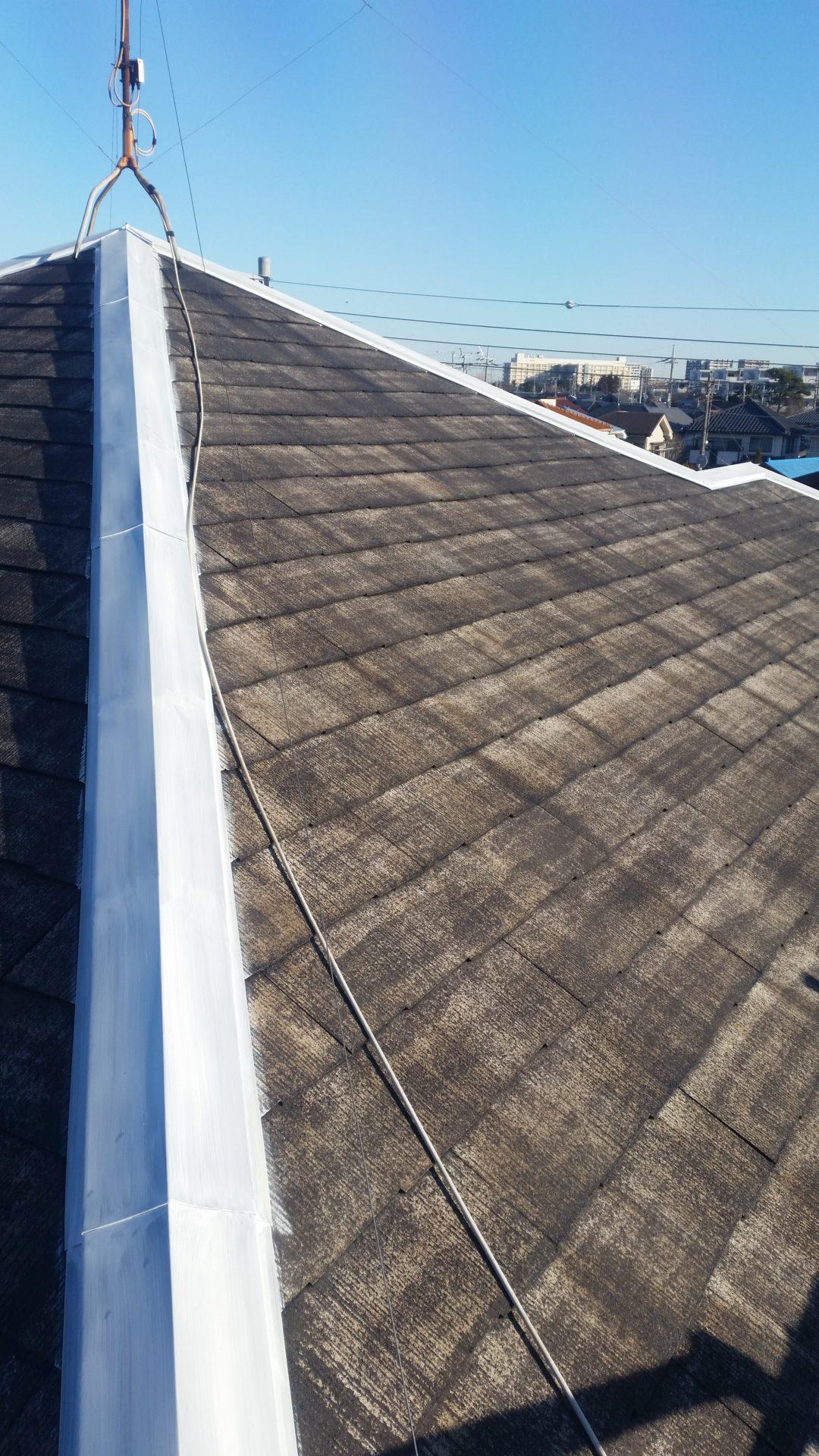静岡県富士市 屋根塗装工事 塗装写真