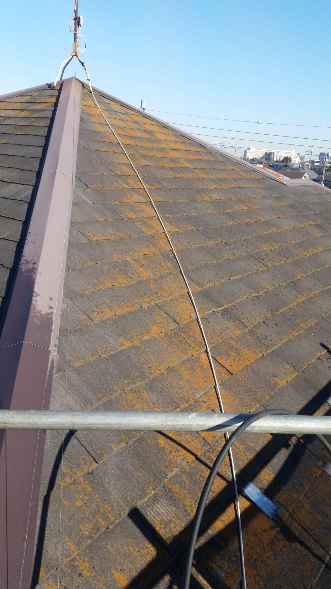 静岡県富士市 屋根塗装工事 高圧洗浄前の写真