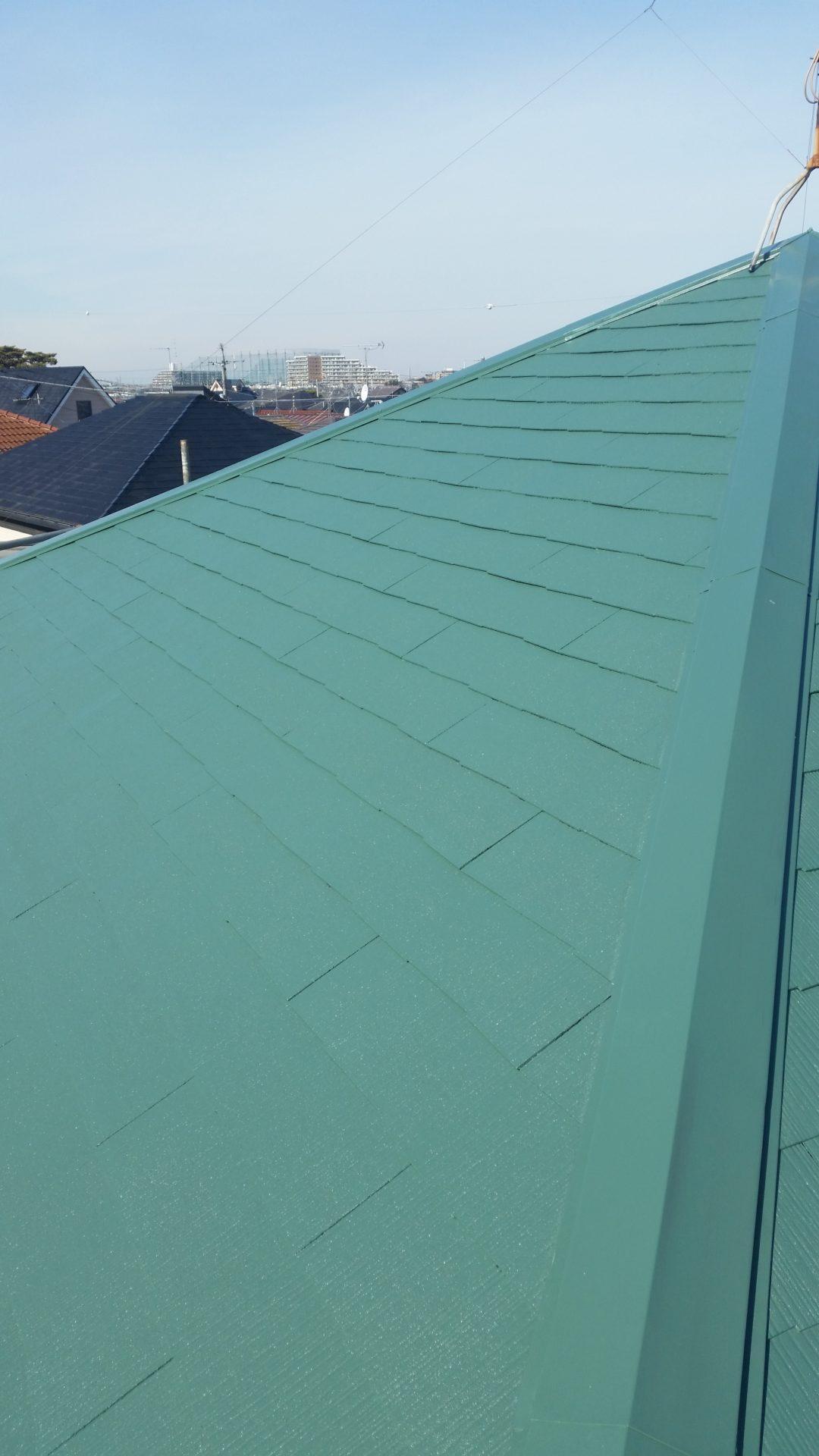 静岡県富士市 屋根塗装工事 屋根塗装完成写真