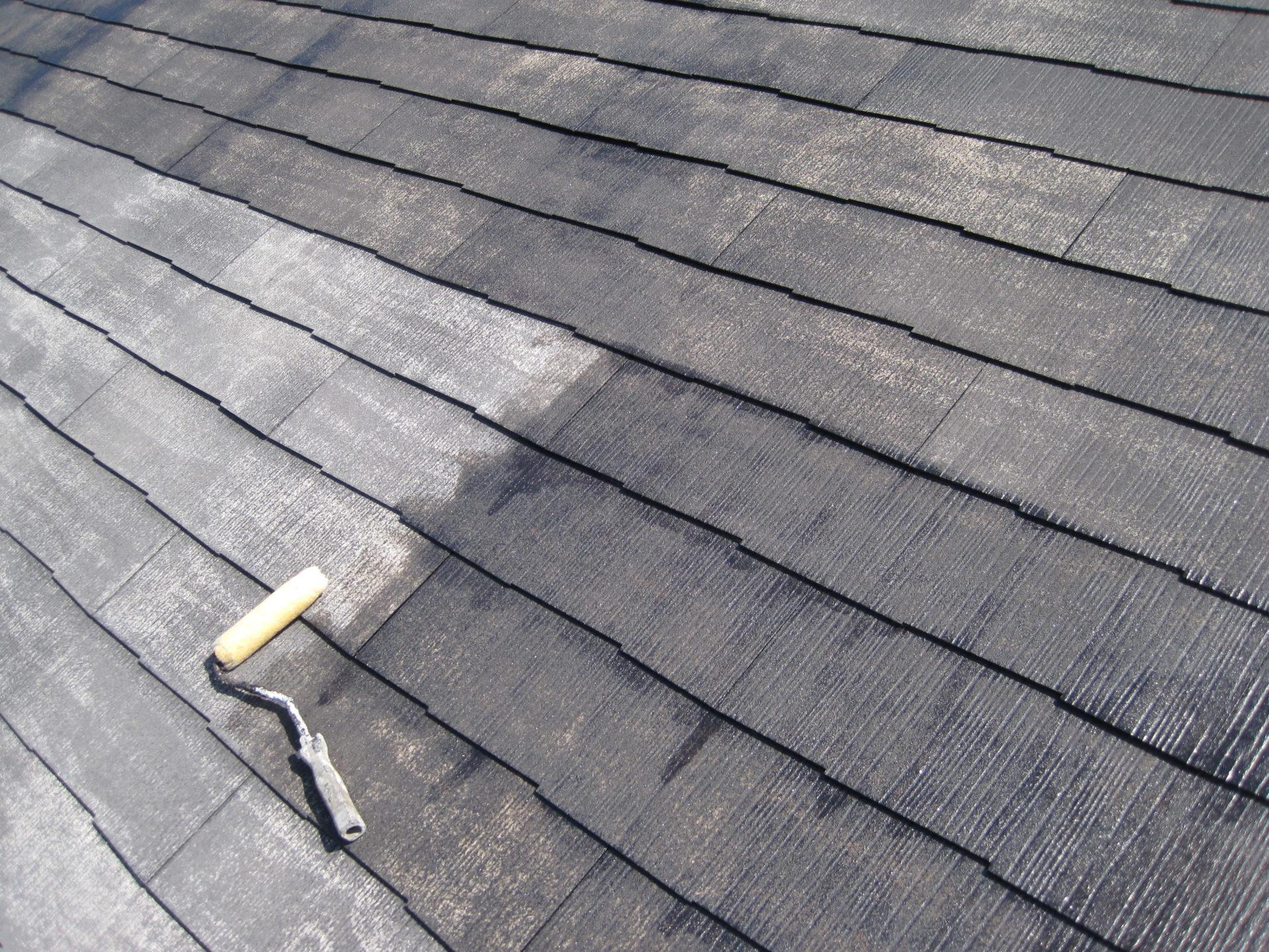 静岡県御殿場市屋根塗装下塗りの画像