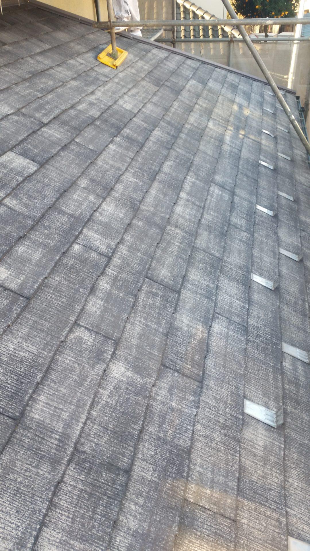 静岡県富士宮市外壁・屋根塗装工事 高圧洗浄の画像