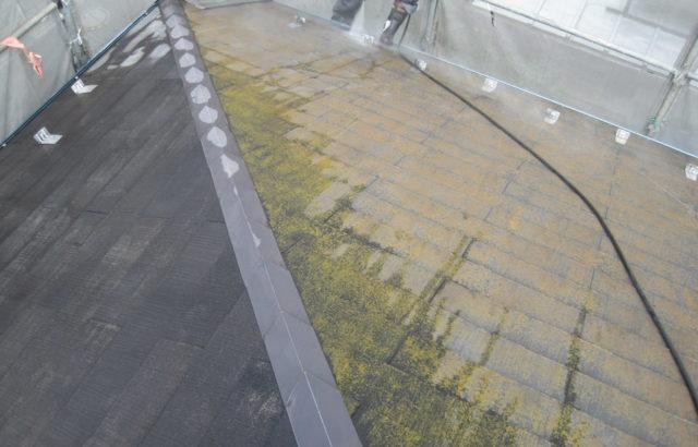 静岡県御殿場市屋根・外壁塗装工事 屋根高圧洗浄の画像